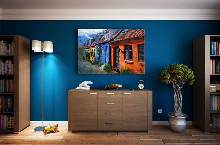 piękny kolorowy pokój