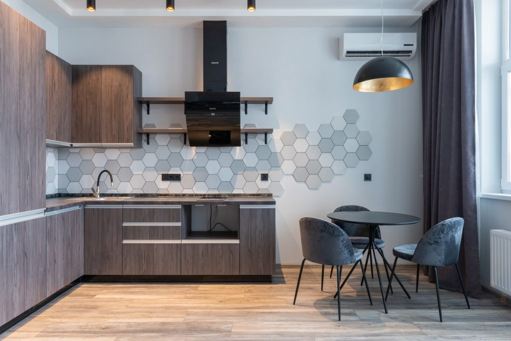 heksagony w kuchni